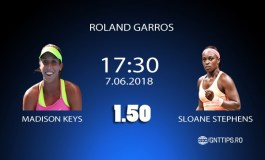 Ponturi tenis - Madison Keys - Sloane Stephens - Roland Garros