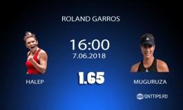 Ponturi Tenis - Halep - Muguruza - Roland Garros - 07.06.2018