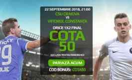 Craiova vs Viitorul: Alege rezultatul si pariaza la cota 50.00
