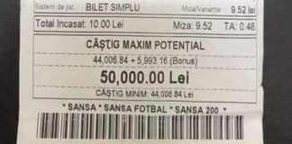 Castig de 50.000 lei