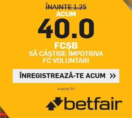 FCSB vs Voluntari: Cota 40.00