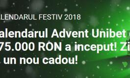 Advent Unibet Ziua 10 - Joaca la Sloturile Unibet pentru 50.000 ron+30.000 rotiri bonus