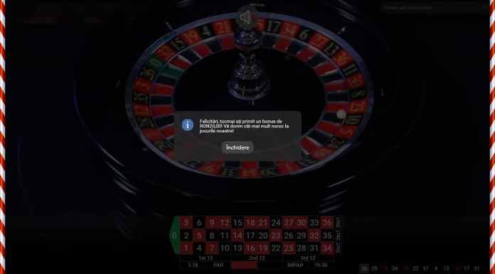 20 RON la mesele live cazino