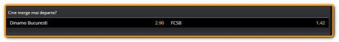 Dinamo - FCSB: Unde putem paria și cotele la pariuri - Cine merge mai departe