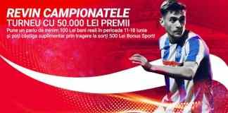 100 de bonusuri X 500 RON la pariuri online