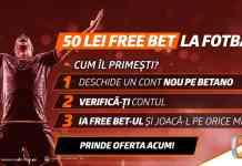 În octombrie ai 50 RON FreeBet fără depunere