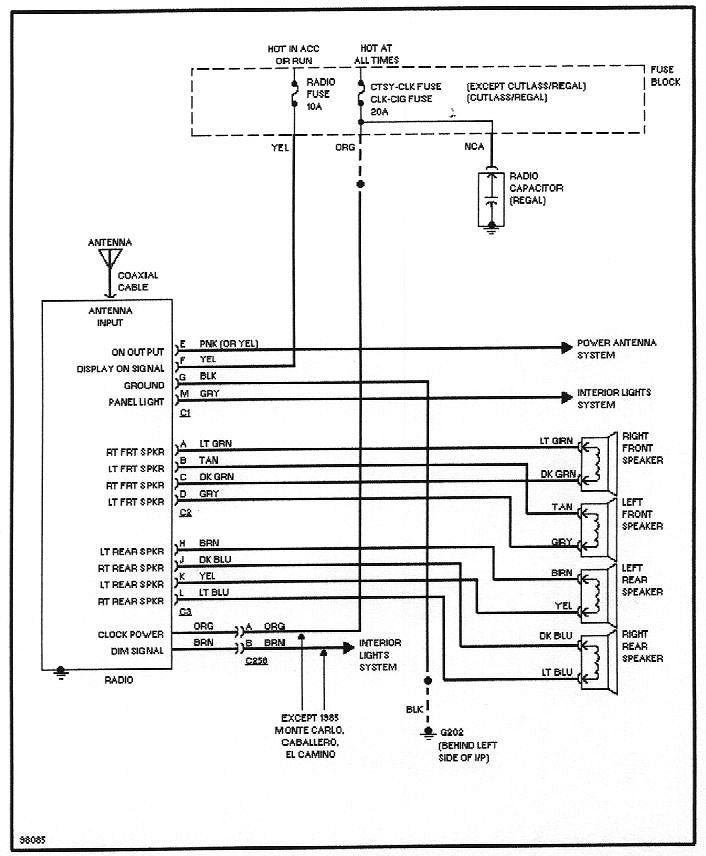 1987 delco radio wiring diagram horn relay diagrams