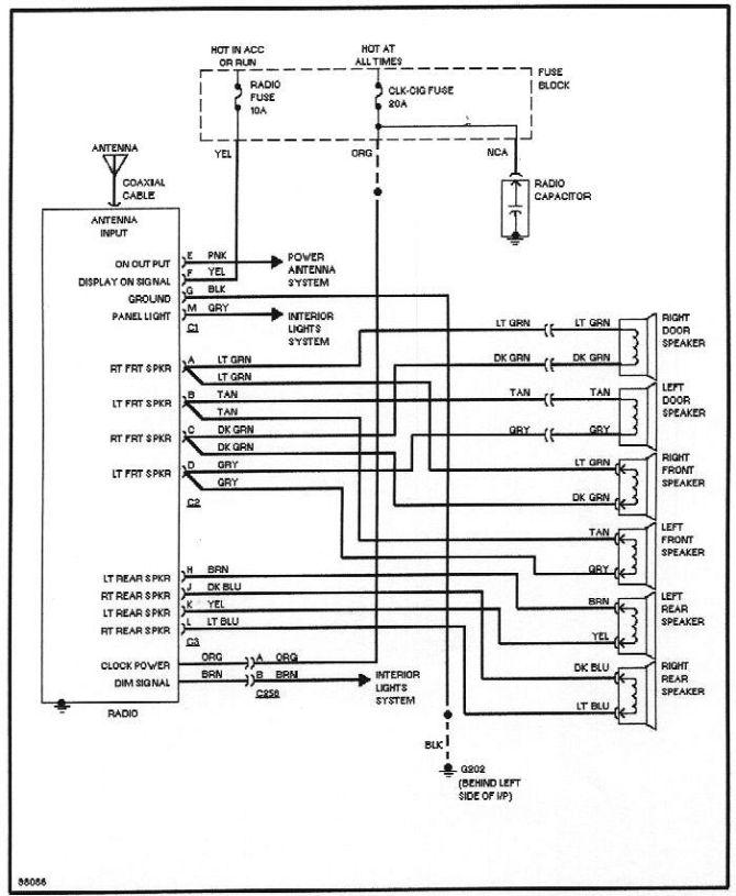 1998 buick park avenue radio wiring diagram  auto wiring
