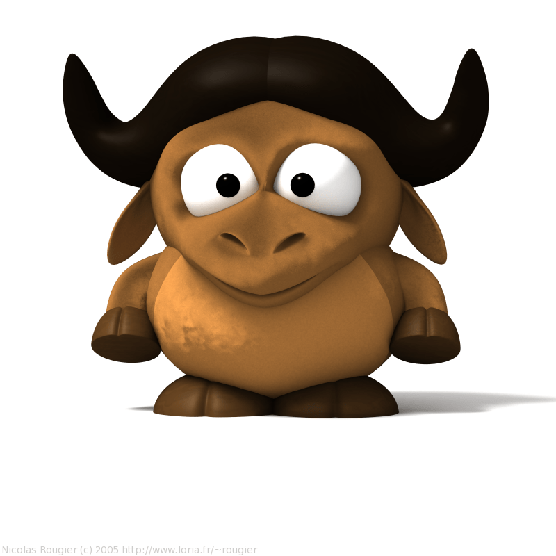 3d All Wallpaper Free Download 3d Baby Gnu And Tux By Nicolas Rougier Gnu Project