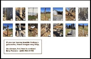 Butler School GeoCache Pictures - cheat sheet page for chaperones - Custom GPS GeoCache Challenge program with GO-Adventures