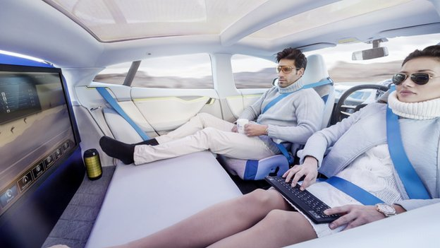Not science fiction anymore: An example of spending some quality time in the future car