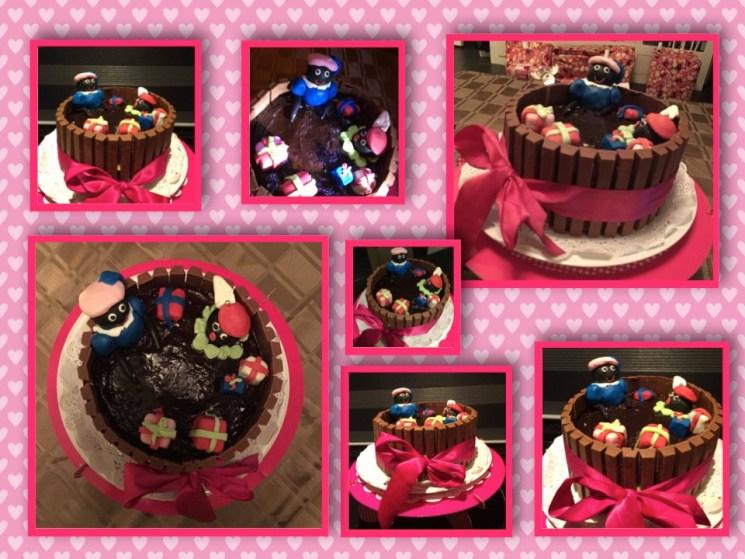 Zwarte pieten taart KitKat Sinterklaas