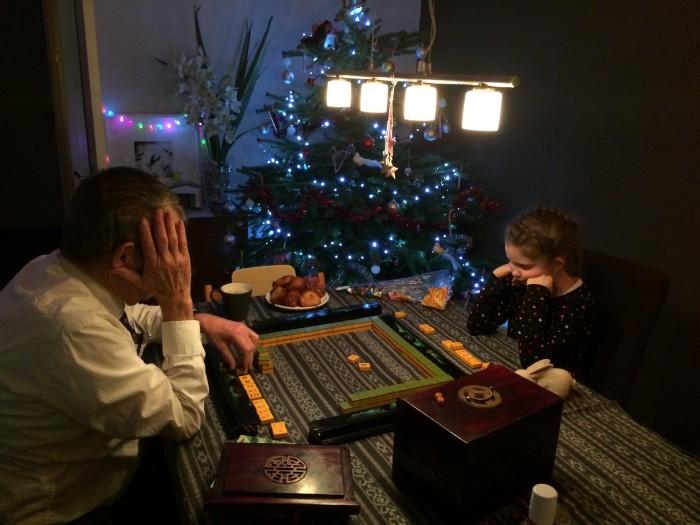 Mahjong met opa