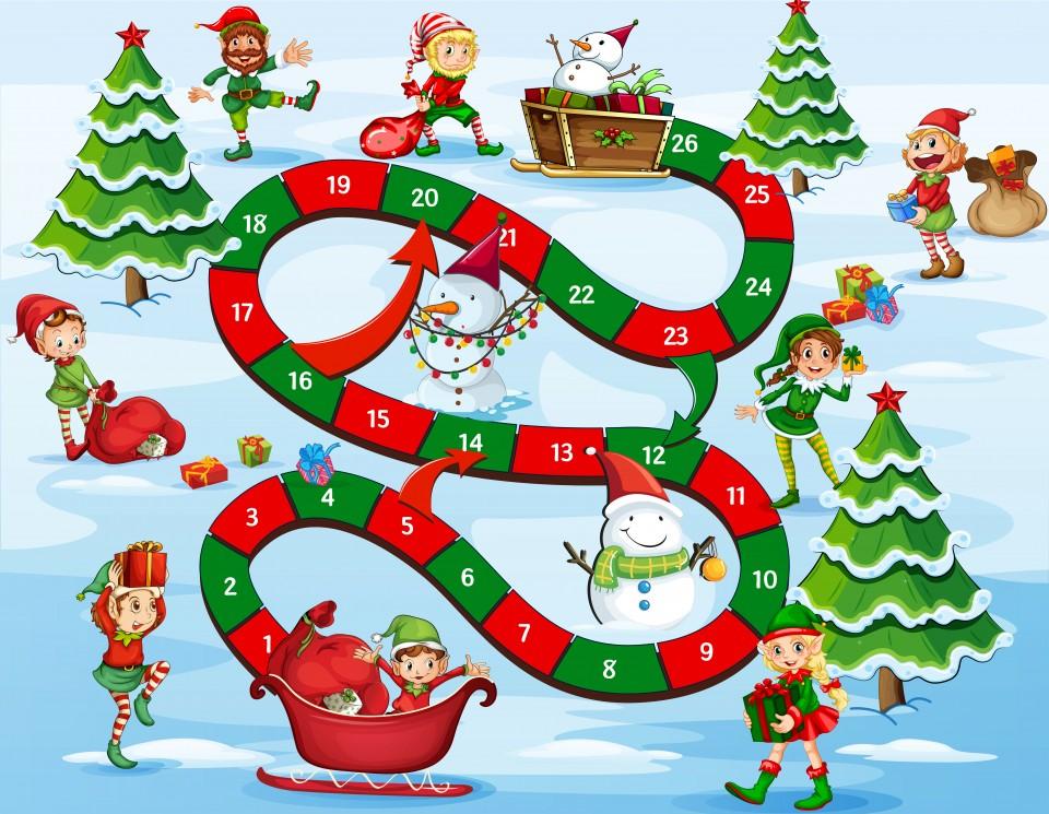 Kerst spelletjes voor kinderen en volwassenen ganzenbord kerst spellen