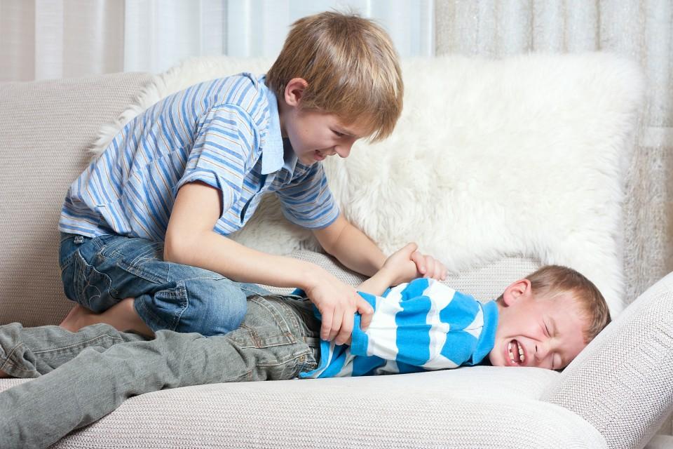 stoeien jongens vechten normaal