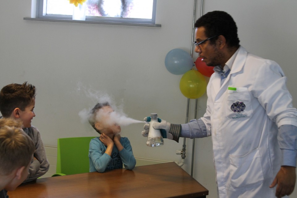 Mad Science kinderfeest was echt heel gaaf