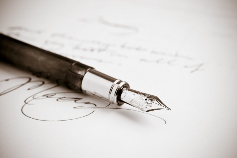 handgeschreven post