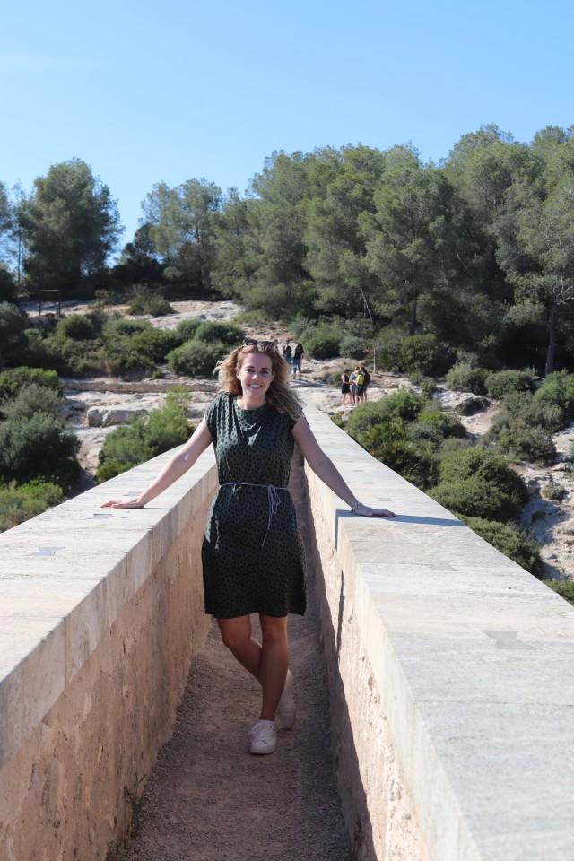 Aquaduct van Tarragona met gezin