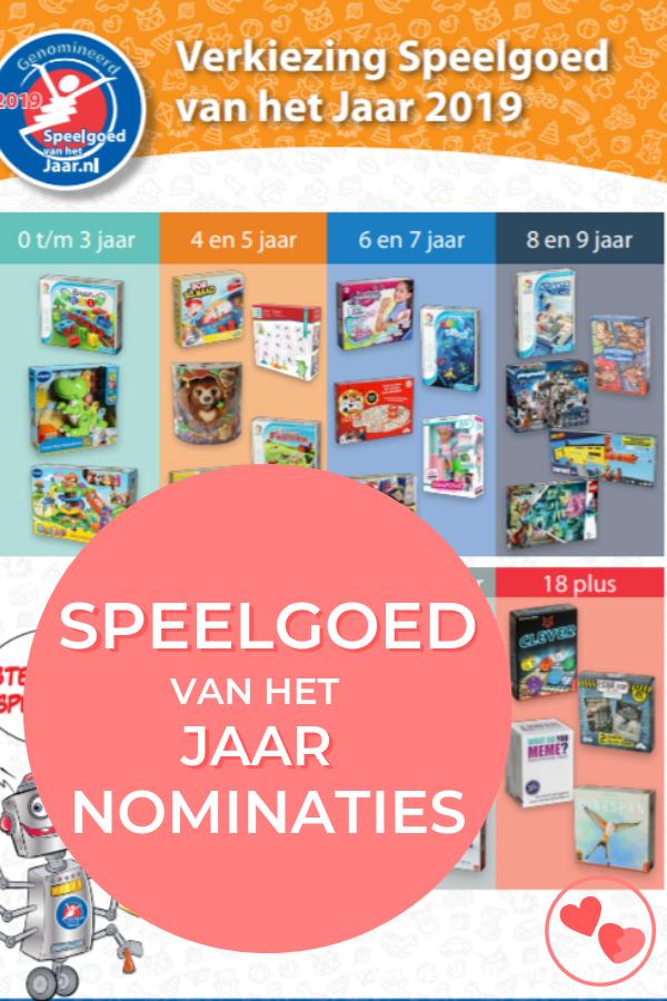 De nominaties voor de Speelgoed van het Jaar 2019 zijn bekend! Lees hier welke spellen en welk speelgoed genomineerd is voor deze belangrijke speelgoedprijs! Daarnaast lees je hier na 6 november 2019 ook wie de winnaars zijn van de Speelgoed van het Jaar verkiezing 2019!
