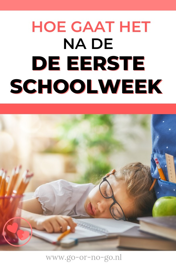 Moe na eerste schoolweek kind