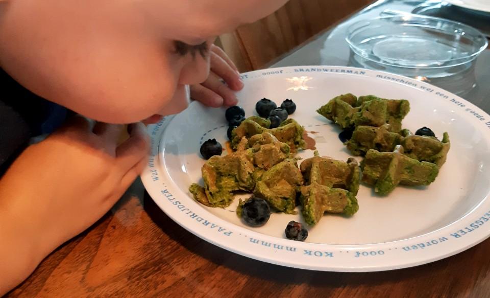 groene wafels maken recept