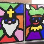 { DIY } | Glas in lood Sint en Piet voor op het raam