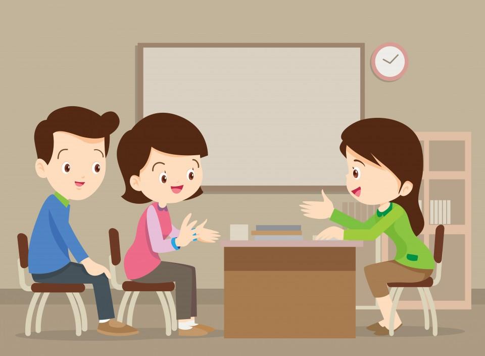 oudergesprek op school