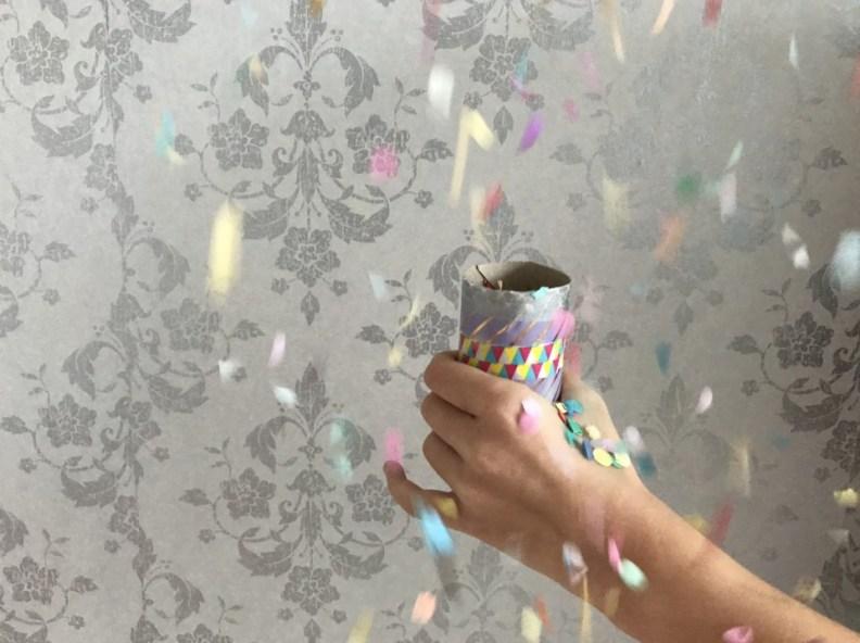 confetitkanon maken met karton