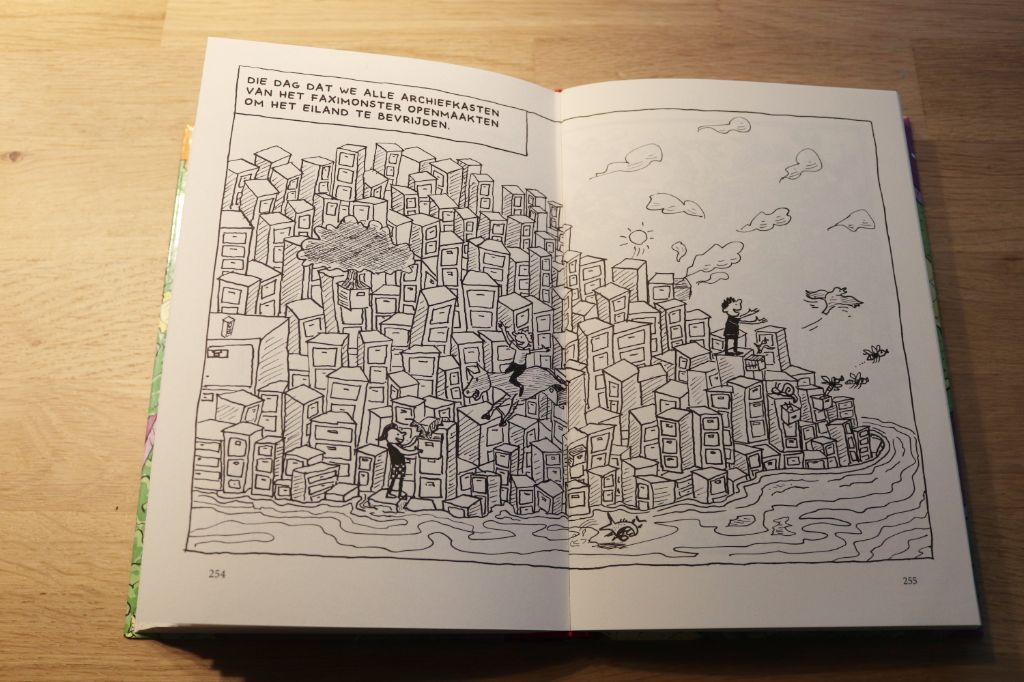 tekening uit boomhutboek { Recensie } | De Waanzinnige Boomhut van 117 verdiepingen