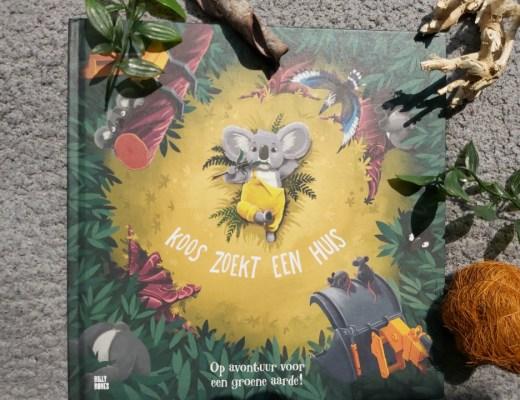 Dit boek over Koos zoekt een huis laat kinderen nadenken over het milieu en de natuur. Machines komen zijn huisje namelijk weghakken.