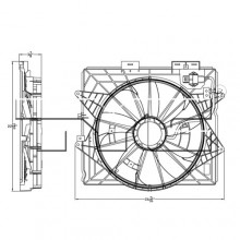 2009 Cadillac CTS Cooling Fan (Base, V, Luxury, Premium