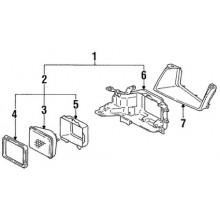 1991 Toyota Tercel Headlight (DLX, STD, LE) (Sedan) » Go-Parts