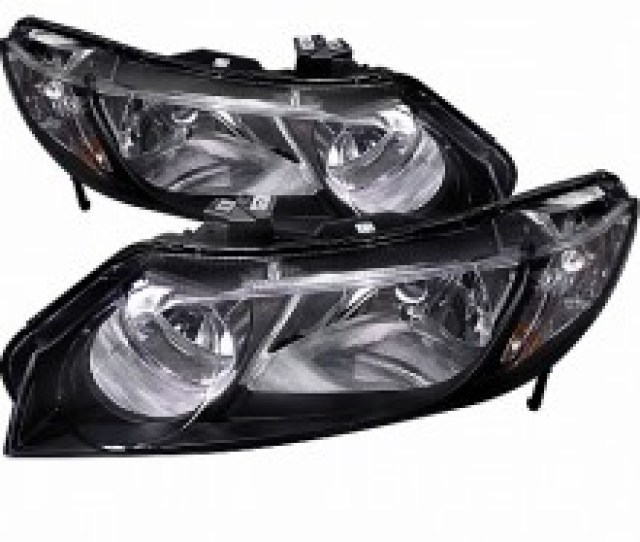 2006 2011 Honda Civic Black Housing Euro Headlights Pair Sedan Spec D Tuning