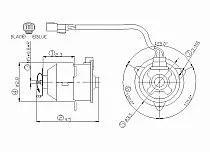 2003-2005 Honda Civic Hybrid Radiator Cooling Fan Motor
