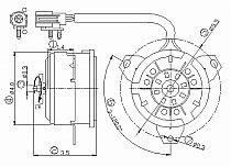 1995-1997 Mercury Grand Marquis Radiator Cooling Fan Motor