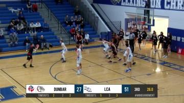 Dunbar Highlights vs LCA Boys BB 12-17-19