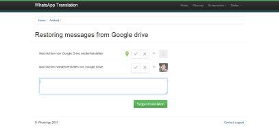 WhatsApp Backup zu Google Drive
