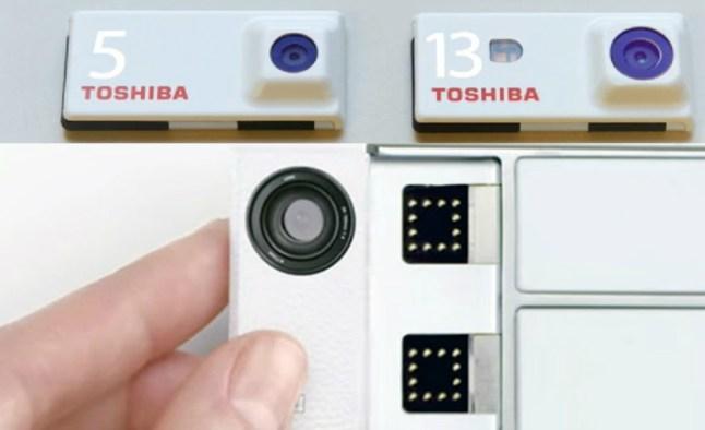 Toshiba Kamera-Module für Projekt Ara