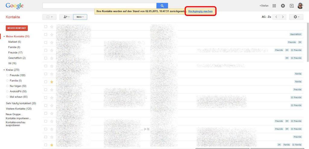 Google Kontakte wiederherstellen [Android für Anfänger]