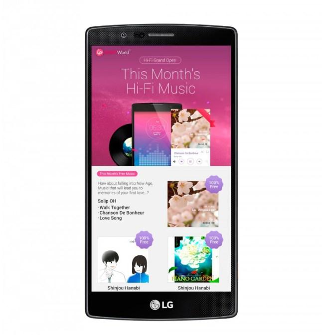 LG HiFi Musik-Streaming