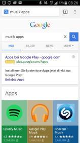 Mobile Google-Suche