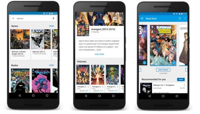 Google Play Books Comic-Update