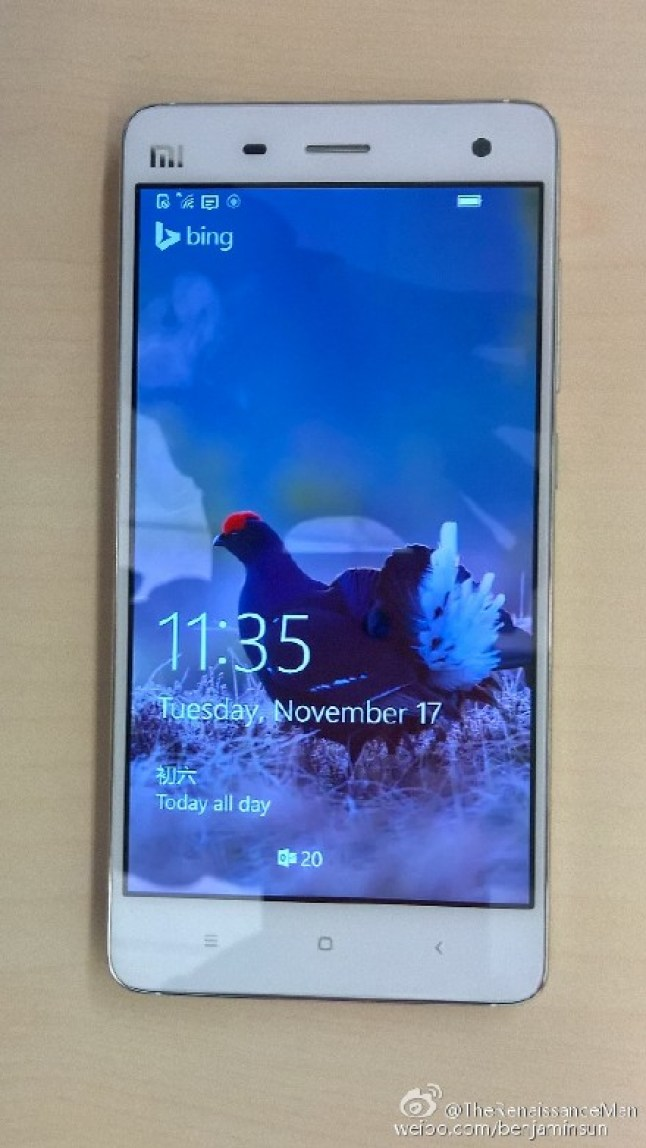 Xiaomi Mi4 mit Windows 10 Mobile