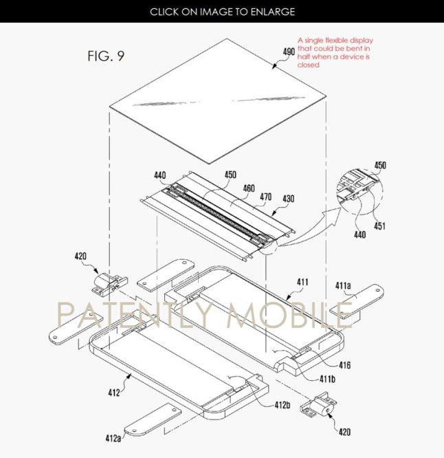 Samsung Patent für Smartphone zum Zusammenklappen