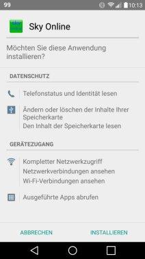 Sky Online ohne Samsung