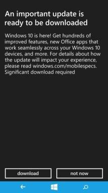 Microsoft Lumia 535 Windows 10 Mobile Update