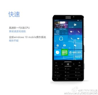 KEYEVER Windows 10 Mobile Smartphone Leak