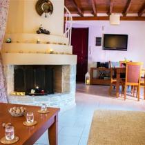 Villas Dioni Living room Fireplace Tv