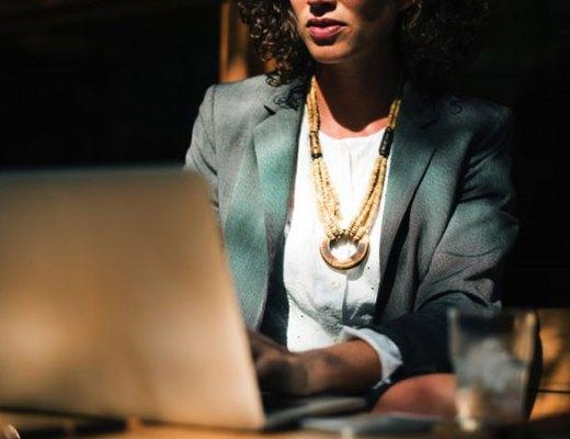 Businesswoman on her laptop