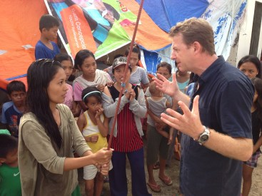 Typhoon Haiyan News Reporting with Angus Walker